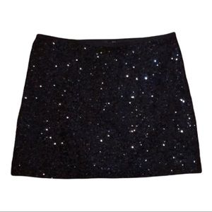 Express Sequin Mini Skirt XS sequined shiny club